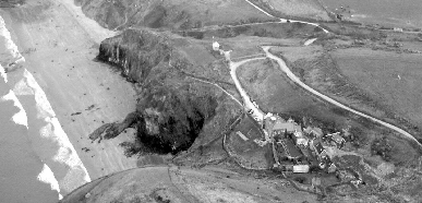 The Druidstone from the Air